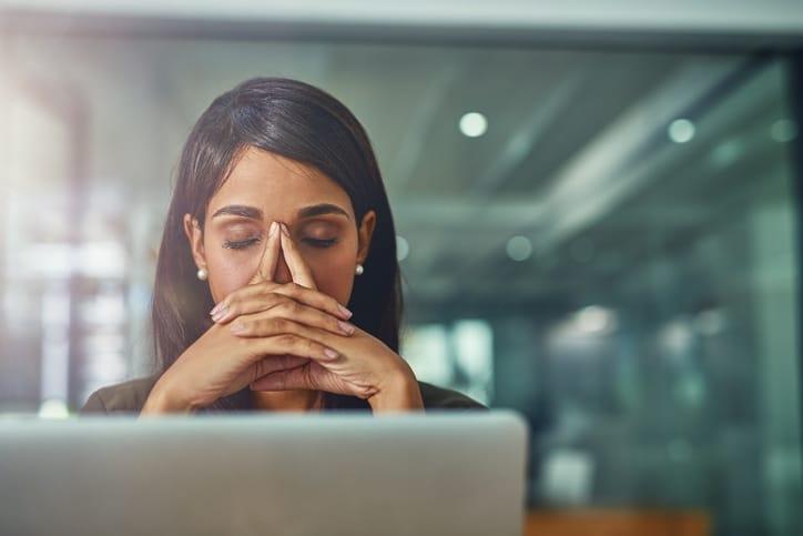 Businesswoman with stress