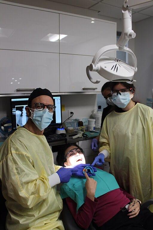 Patient Smiling After Procedure